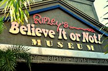 Image result for images ripley's believe it or not