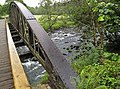 River seen from old railway bridge now a cycle ^ footpath, between Keswick and Thelkeld, Lake District. - panoramio.jpg