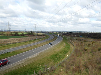 A130 road - A130 between A127 and A129 looking northbound.