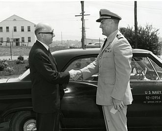 Robert A. Frosch - Assistant Secretary of the Navy for Research and Development meets the Commanding Officer of Naval Undersea Warfare Station.