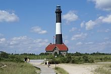 The Fire Island Lighthouse At Adjacent National Seashore Robert Moses