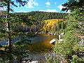 Rocky Mountain National Park in September 2011 - Bear Lake from near trail head.JPG
