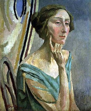 Edith Sitwell - Portrait of Sitwell by Roger Fry, 1915