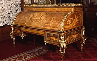 Pierre Beaumarchais - Rolltop desk dated 1777–1781 at Waddesdon Manor, possibly made for Beaumarchais