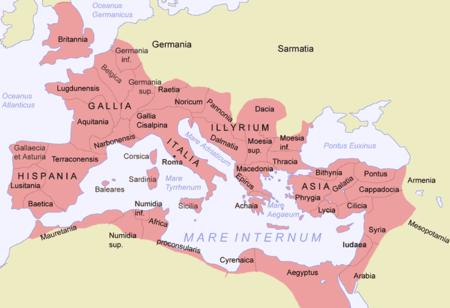 L`ESPAGNE – MOEURS ET PAYSAGES - avec les traditions catholiques de ce pays 450px-Roman_Empire_Map