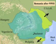 Romania in world war ii wikipedia map of romania after world war ii indicating lost territories gumiabroncs Choice Image