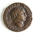 Romerskt bronsmynt med Trajanus - Skoklosters slott - 110665.tif