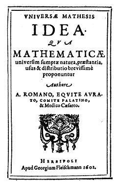 Roomen - Universae mathesis idea, 1602 - 151336.jpg