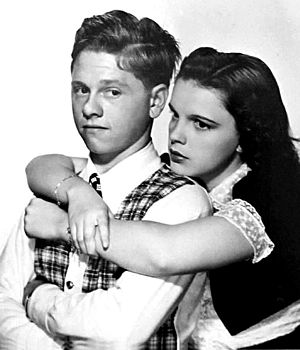 Mickey Rooney - Rooney with Judy Garland in Love Finds Andy Hardy (1938)