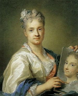 Rosalba Carriera - Self-portrait, 1715