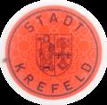Rote Kfz-Zulassungsplakette Stadt Krefeld SecuPrint.png