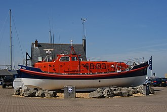 RNLB Ruby and Arthur Reed (ON 990) - Image: Roundabout at Hythe Marina, Hampshire