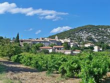 Rousset-les-Vignes, view on village.jpg
