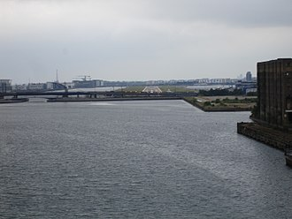 Royal Victoria Dock - Image: Royal Albert dock looking east towards city airport
