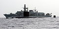 Royal Navy Submarine HMS Turbulent with Type 23 Frigate HMS St Albans MOD 45153519.jpg