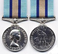 Obverse and Reverse of the Royal Observer Corps Medal