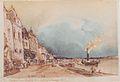 Rudolf von Alt - Der Landeplatz in Stein an der Donau - 1844.jpeg