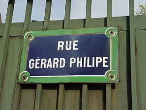 Gérard Philipe - Gérard Philipe Street in Paris