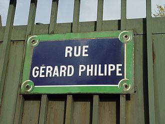 Gérard Philipe - Gérard Philipe Street in Paris