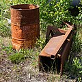Rusty oil drum and scrap metal.jpg