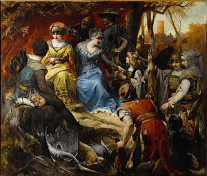 Alexander von Wagner - After the Hunt (Mathias Corvinus)