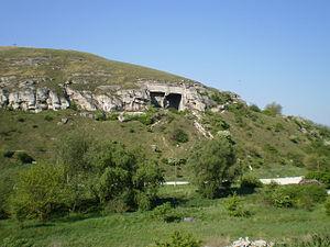 Sóskút - Limestone hill next to the village