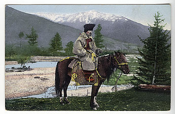 SB - Altai man in national suit on horse