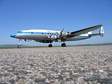 Super Constellation (C-121C) during pilot training in Epinal - Mirecourt, France - Lockheed Constellation