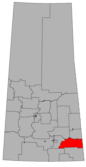 Moosomin (electoral district) - Image: SK 2016 Moosomin