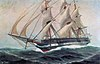 Niobe under sail as painted by Christopher Rave