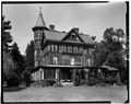 SOUTH FACADE, LOOKING NORTHEAST - Wilderstein, Morton Road, Rhinebeck, Dutchess County, NY HABS NY,14-RHINB.V,4-3.tif