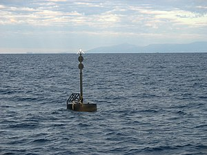 Death of Tina Watson - A buoy marks the site of the SS Yongala