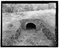 STONE CULVER UNDER ROAD. LOOKING WSW. - Olompali State Historic Park, Mary Burdell Garden, U.S. Highway 101, Novato, Marin County, CA HALS CA-4-19.tif