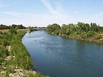 Sac State American River from Guy West Bridge.jpg