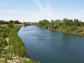 Sac State American River from Guy West Bridge.jpg