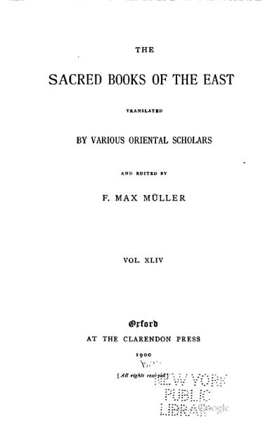 File:Sacred Books of the East - Volume 44.djvu