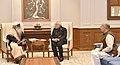Sadhguru Jaggi Vasudev calling on the Prime Minister, Shri Narendra Modi, in New Delhi (1).jpg
