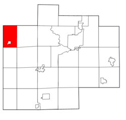 Saginaw County Michigan townships Jonesfield highlighted.png