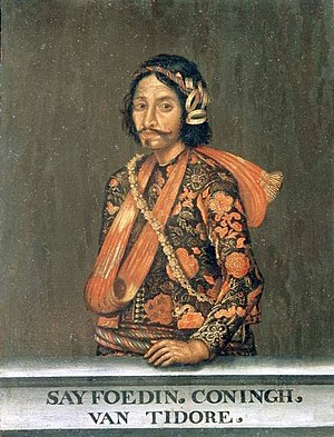 Sultanate of Tidore - Portrait of Sultan Saifuddin of Tidore, Czartoryski Museum, Kraków.