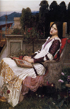 WATERHOUSE John William Saint Cecilia (detail) 1895