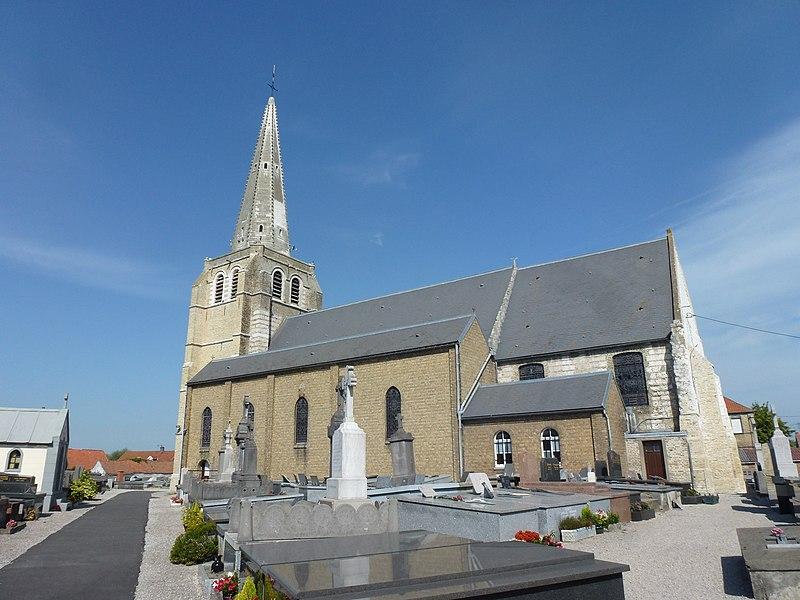 Sainte-Marie-Kerque (Pas-de-Calais) église Notre Dame