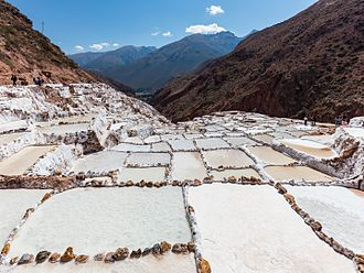 Maras, Peru - Salt ponds of Maras.