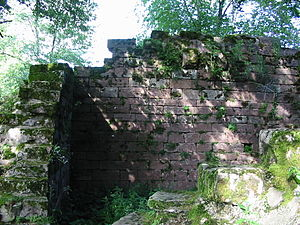 Château de Salm - Detail of the ruins