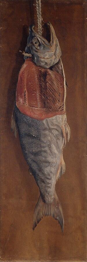 Takahashi Yuichi - Salmon, oil painting, 1877 (Tokyo University of the Arts)