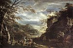 Salvator Rosa - River Landscape with Apollo and the Cumean Sibyl - WGA20057.jpg