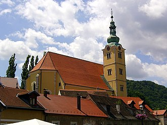 Samobor - Image: Samobor Church of Saint Anastazia 02