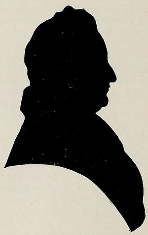 Samuel Holten - Silhouette of Samuel Holten taken in life, and passed on to his descendants.