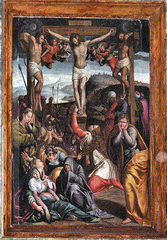 Dono Doni - Crucifixion, 1563, in the Assisi Cathedral