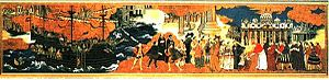 Pope Paul V - Pope Paul V welcoming the embassy of the Japanese samurai Hasekura Tsunenaga in Rome in 1615.  Japanese painting, 17th century.