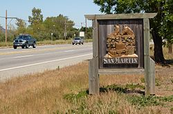 Welcome sign on Monterey Road